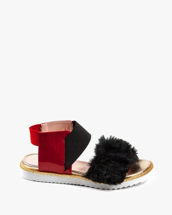 Wielokolorowe sandały damskie skózane 2504/539/A38