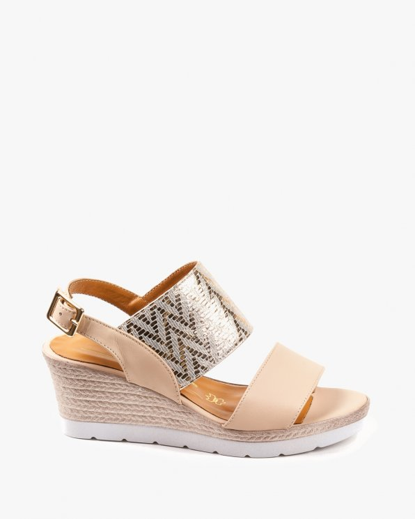Beżowe sandały damskie skórzane 2255/D13/535/965