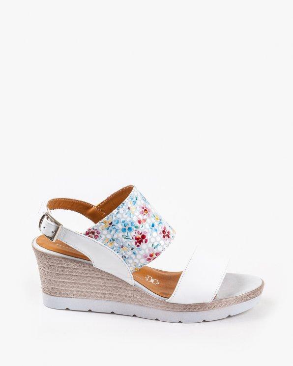 Białe sandały damskie skórzane 2255/534/D18