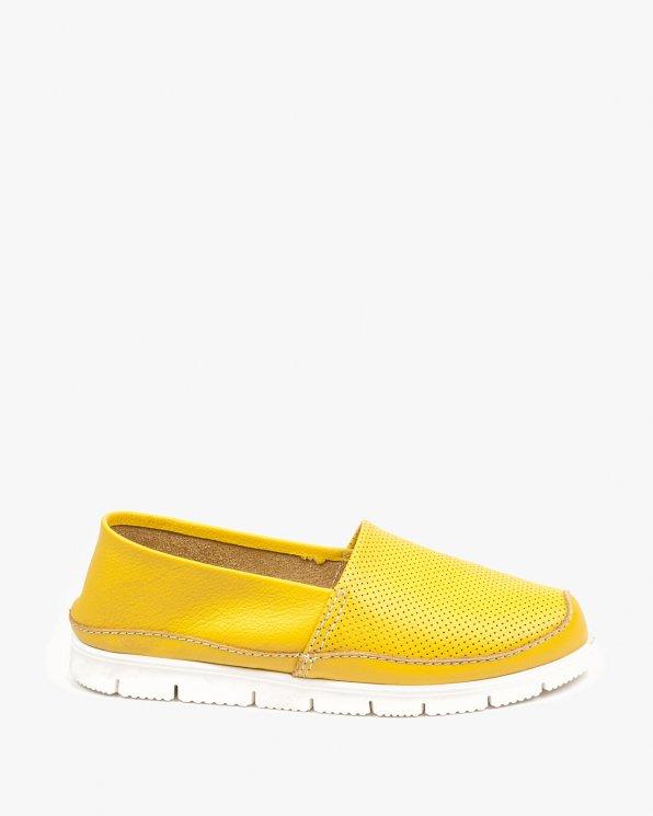 Żółte półbuty damskie skórzane 2557/D15