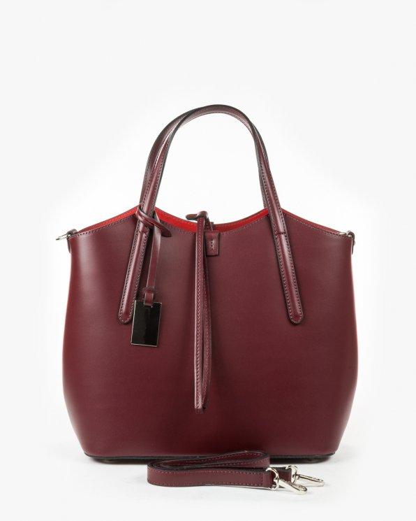 Skórzana torebka damska RBS1659/BORDO