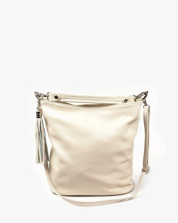 Skórzana torebka damska RBS1677/KREM