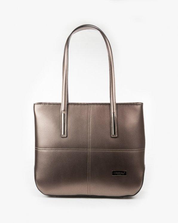 Skórzana torebka damska RBS16189/M.ZŁOTO