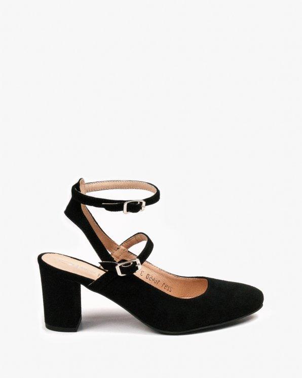 Czarne sandały damskie skórzane 2291/147