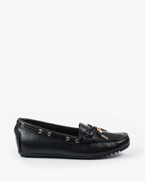 Czarne baleriny BAY3173-358/BLACK.NAPPA