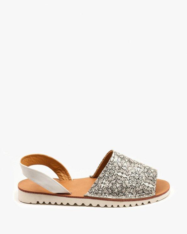 Szare sandały damskie skórzane 2249/C72/534