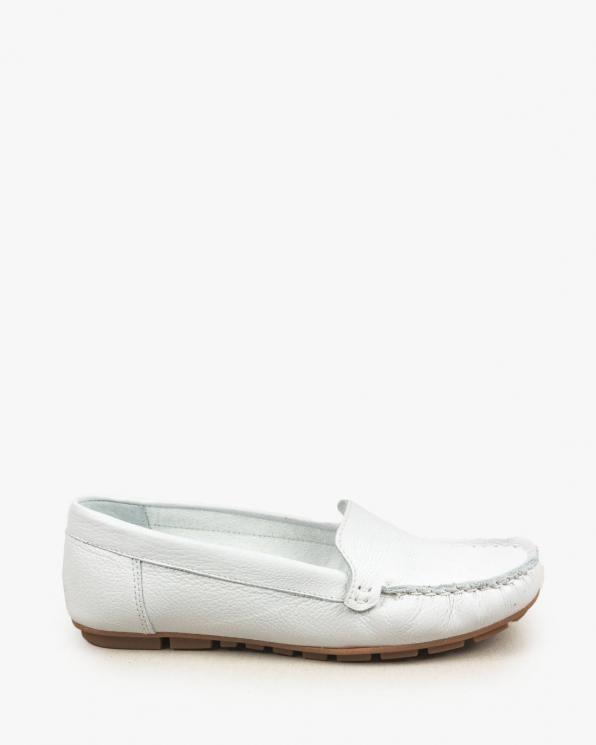 Białe mokasyny damskie skórzane 3157/G02