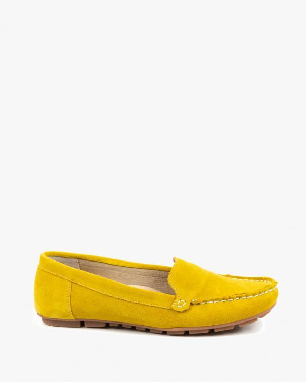 Żółte mokasyny damskie skórzane 3157/G68