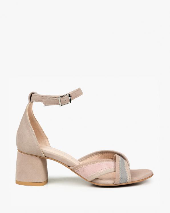 Różowe sandały damskie skórzane 3172/E99/952/E98