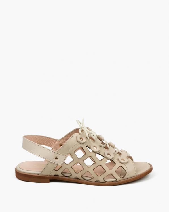 Beżowe sandały damskie skórzane 3508/G35