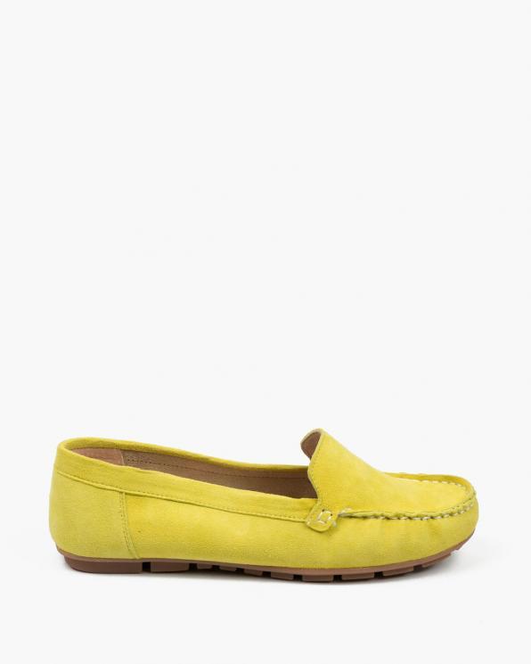 Żółte mokasyny damskie skórzane 3157/G92