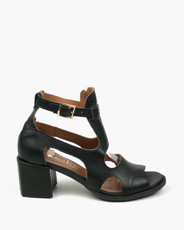 Czarne sandały damskie skórzane 3325/C47