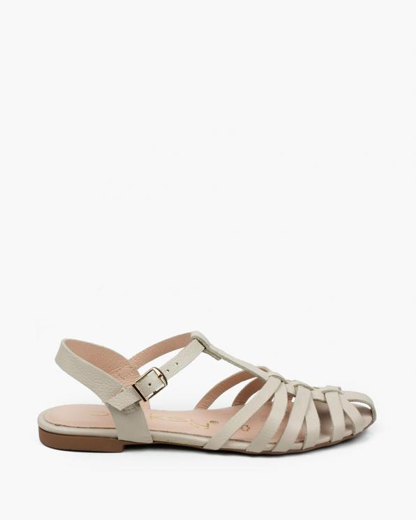 Beżowe sandały damskie skórzane 3527/F97
