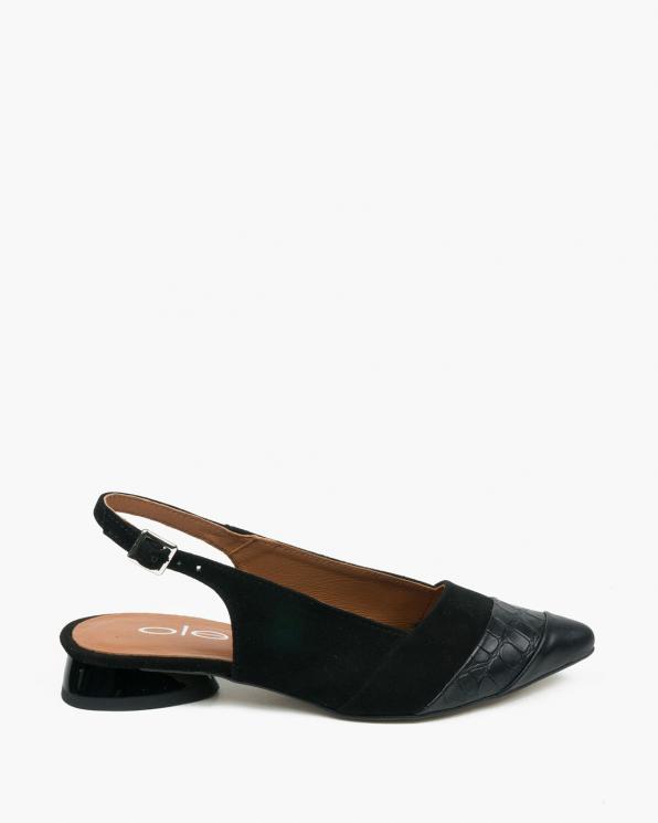 Czarne sandały damskie skórzane 3470/A89/F86/147