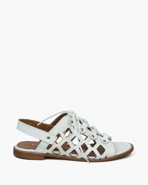 Białe sandały damskie skórzane 3508/534