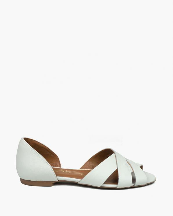 Białe sandały damskie skórzane 3526/G02