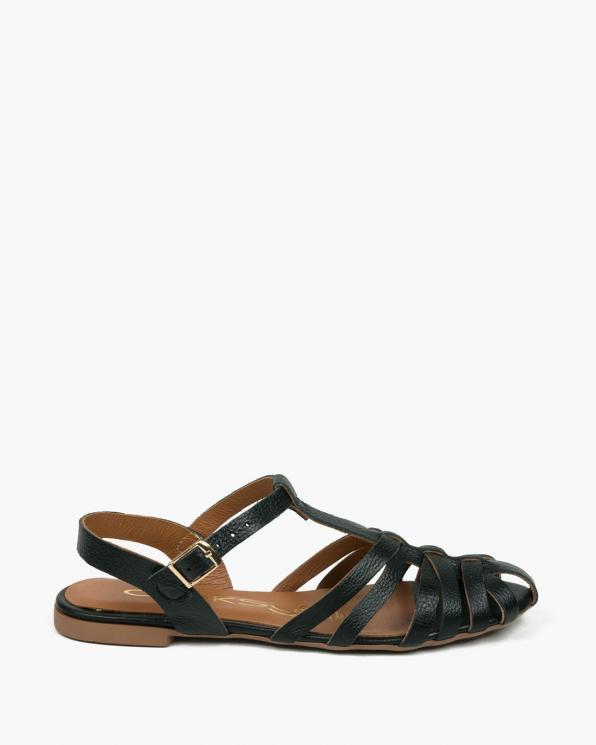 Czarne sandały damskie skórzane 3527/C47