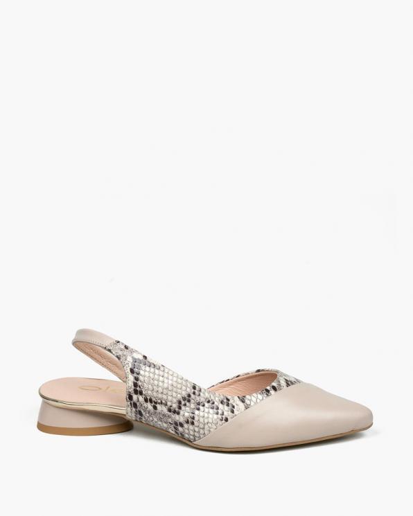 Beżowe sandały damskie skórzane  3471/F67/F66/A38