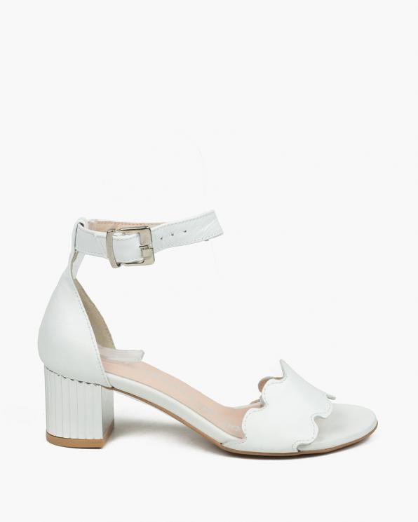 Białe sandały damskie skórzane 2696/534/001