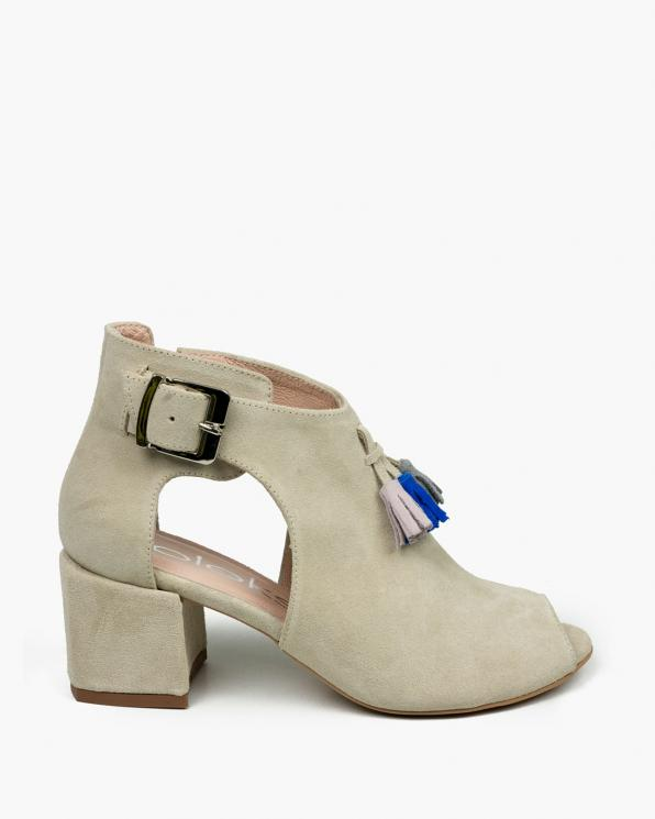 Beżowe sandały damskie skórzane 3513/G46/E62/E98/952