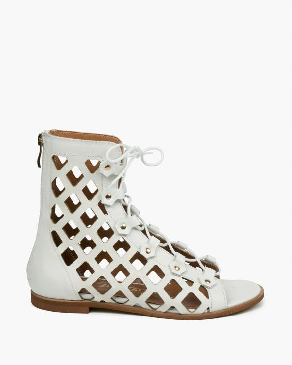 Białe sandały damskie skórzane 3507/534