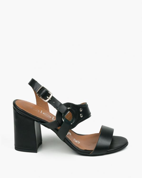 Czarne sandały damskie skórzane 3510/A89