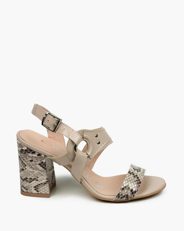 Beżowe sandały damskie skórzane 3510/F66/F67