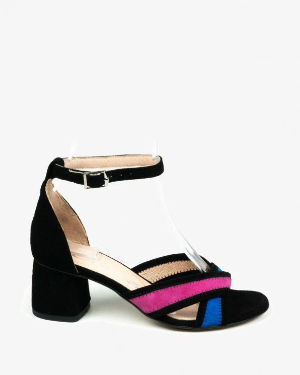 Czarne sandały damskie skórzane 3172/147/G03/E62