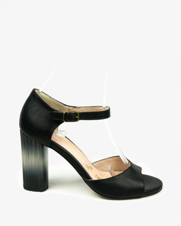 Czarne sandały damskie skórzane 2296/320/001