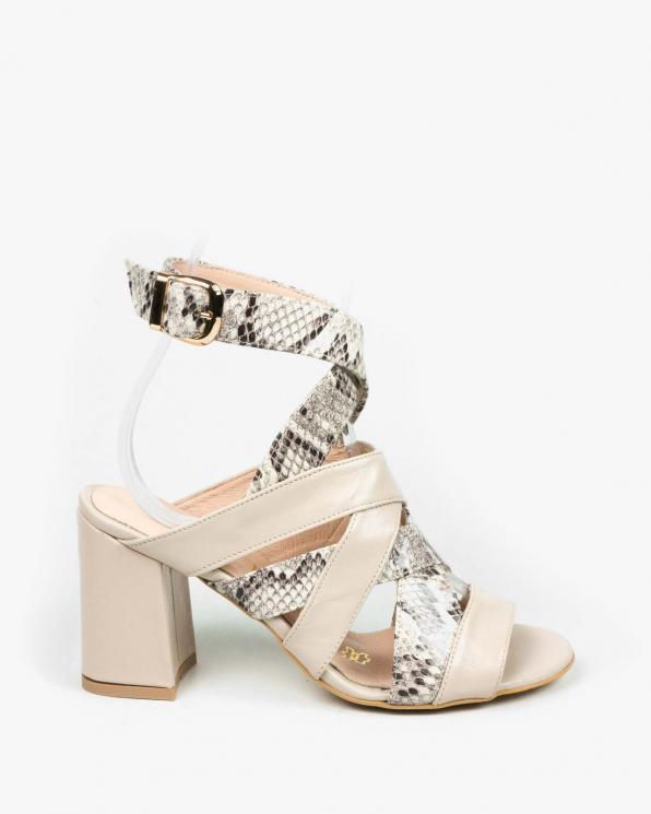Beżowe sandały damskie skórzane 3509/F67/F66
