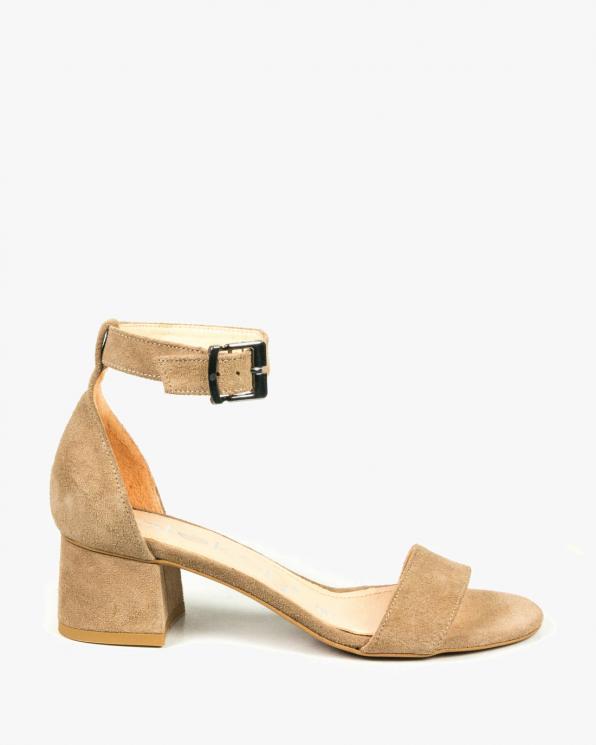 Beżowe sandały damskie skórzane 2148/F37