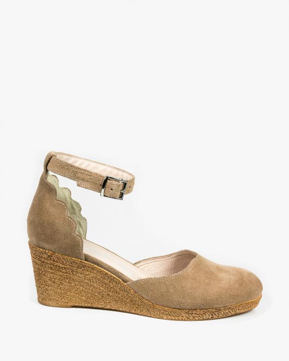 Beżowe sandały damskie skórzane 3026/F37