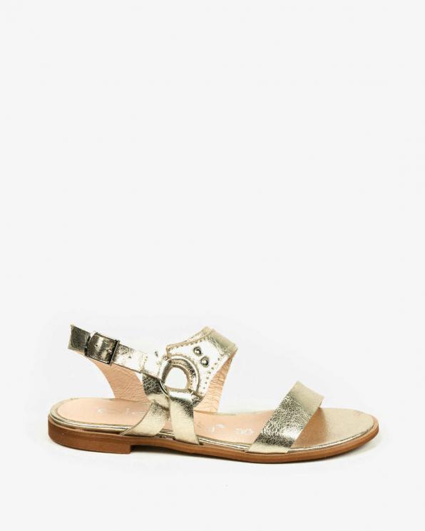 Złote sandały damskie skórzane 3565/F96