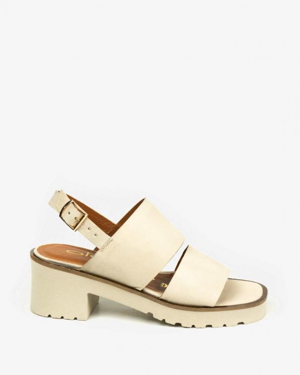 Beżowe sandały damskie skórzane 3505/G35