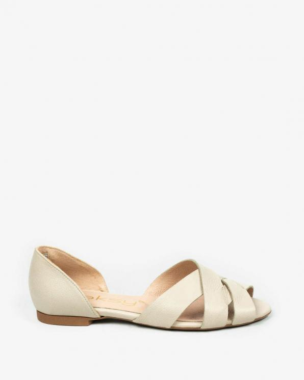 Beżowe sandały damskie skórzane 3526/F97