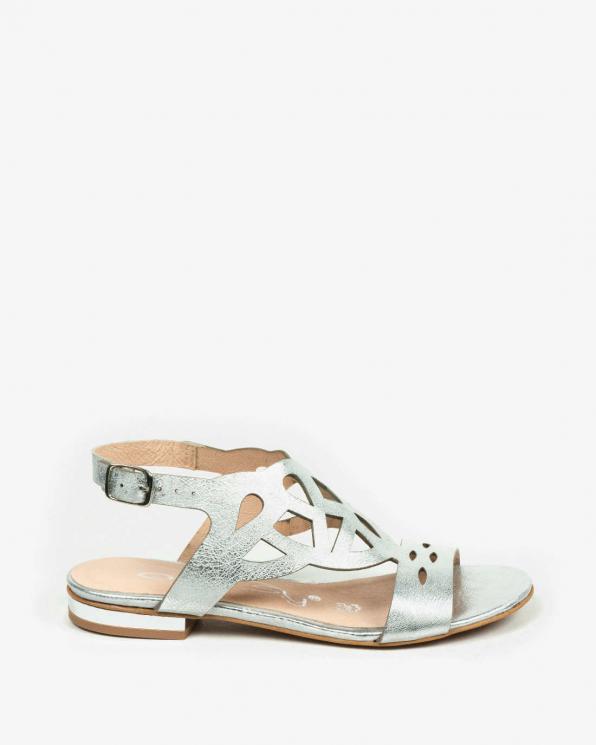 Srebrne sandały damskie skórzane 3034/963