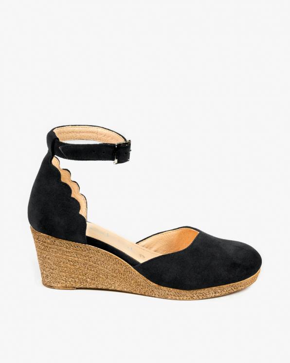 Czarne sandały damskie skórzane 3026/147