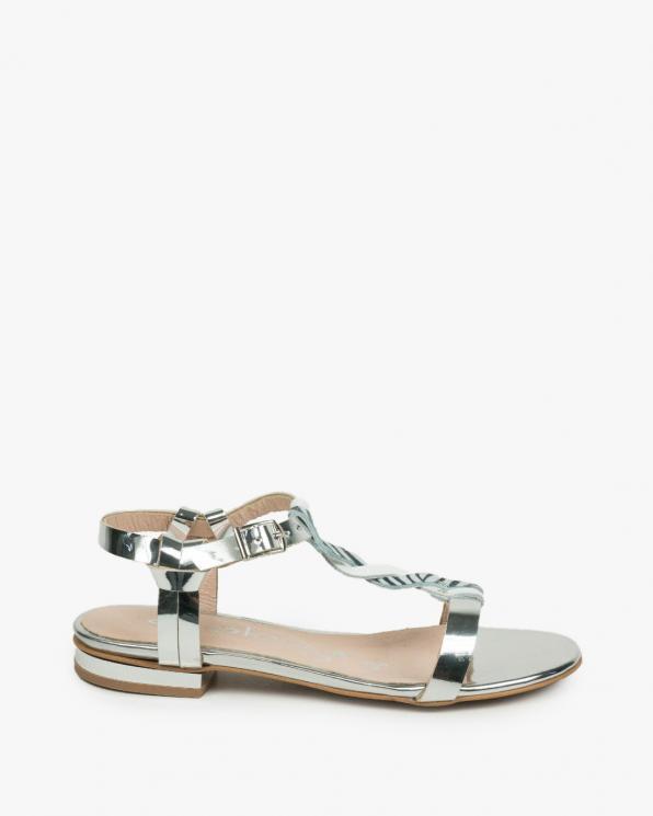 Srebrne sandały damskie skórzane 3032/120/G79/G75/G77