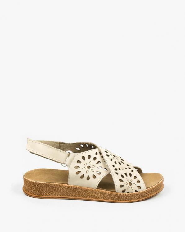 Beżowe sandały damskie skórzane 3417/G35
