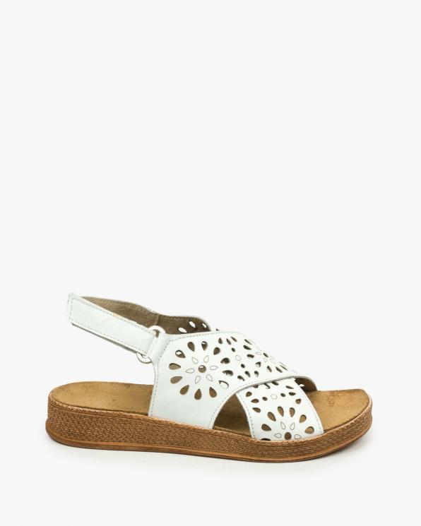 Białe sandały damskie skórzane 3417/534