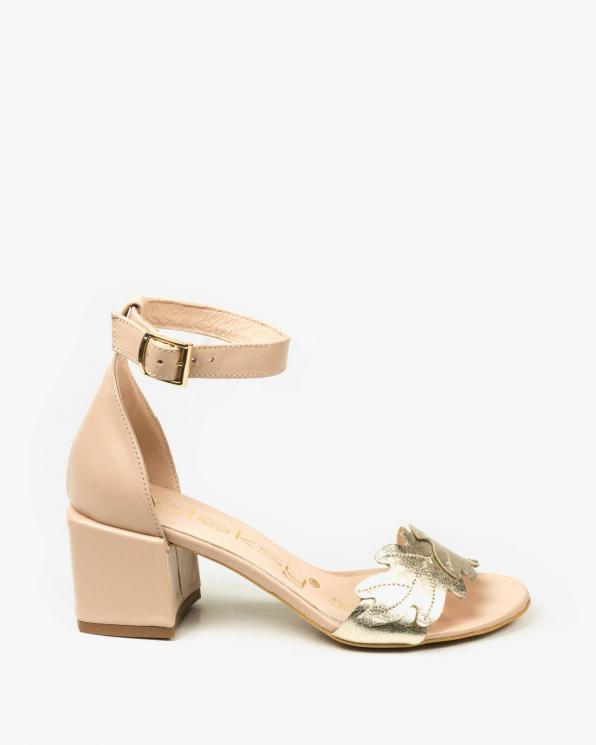 Beżowe sandały damskie skórzane 3549/F96/F67