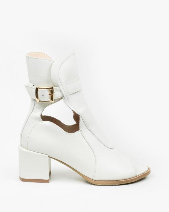 Ecru sandały damskie skórzane 3539/G99