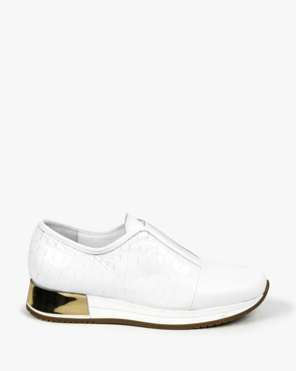 Białe adidasy damskie skórzane 3046/534/F61