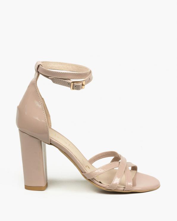 Beżowe sandały damskie skórzane 2996/661/001