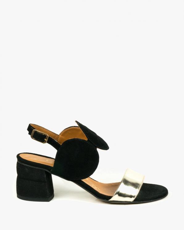 Czarne sandały damskie skórzane 2292/147/A38