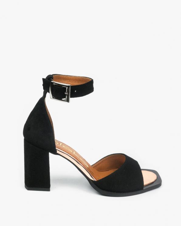 Czarne sandały damskie skórzane 3385/147/G82