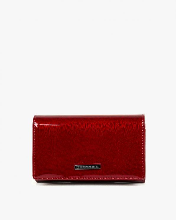 Czerwony portfel damski skórzany GREPT-101/CZERWONY