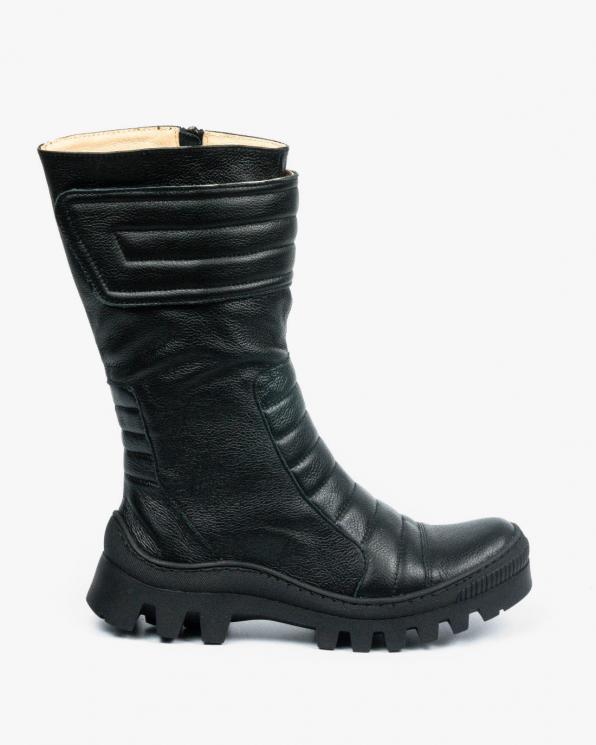 Czarne botki damskie skórzane 3562/C47