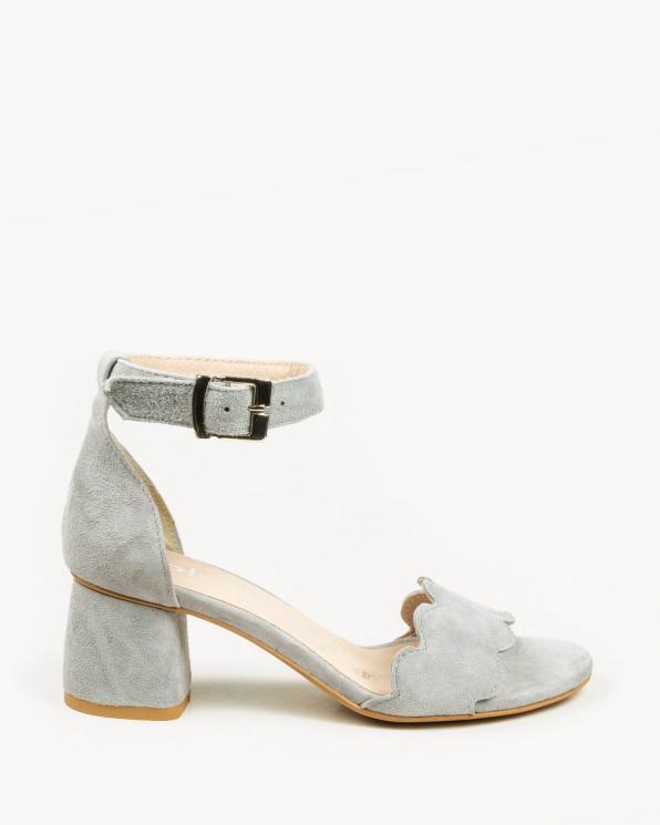 Szare sandały damskie skórzane 2696/E89