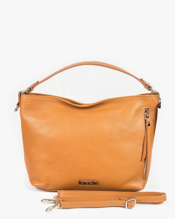 Pomarańczowa torebka damska skórzana GRE318-074/CAMEL